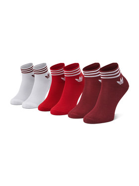 adidas adidas Zestaw 3 par niskich skarpet unisex Trefoil Ankle Socks 3 Pairs GN3085 r.OS Biały