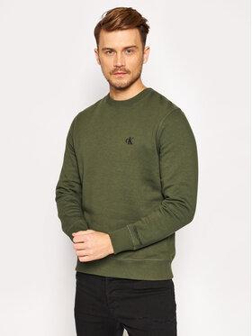 Calvin Klein Jeans Calvin Klein Jeans Bluză Embroidered Logo J30J314536 Verde Regular Fit