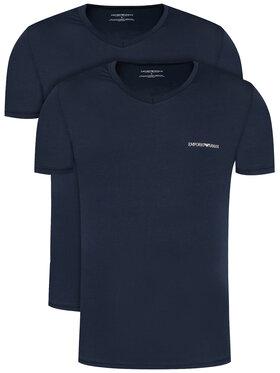 Emporio Armani Underwear Emporio Armani Underwear 2-dielna súprava tričiek 111849 0A717 70835 Tmavomodrá Regular Fit