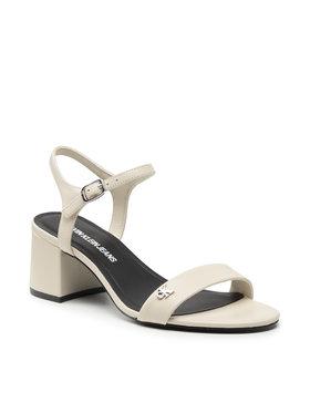 Calvin Klein Jeans Calvin Klein Jeans Sandály Heel Sandal Strap Lth YW0YW00135 Béžová