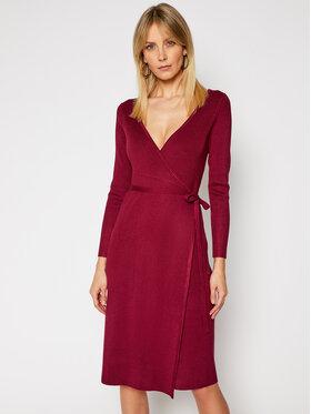 Guess Guess Sukienka dzianinowa W0RK51 R2BF3 Bordowy Regular Fit
