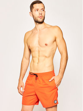 Volcom Volcom Plavecké šortky Lido Solid A2512005 Oranžová Regular Fit
