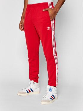 adidas adidas Spodnie dresowe Sst Tp P GF0208 Czerwony Slim Fit