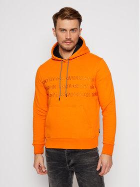 Calvin Klein Calvin Klein Sweatshirt Graphic Embroidery K10K105720 Orange Regular Fit