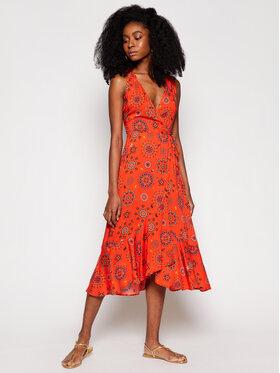 Desigual Desigual Ljetna haljina Santorini 21SWMW23 Narančasta Regular Fit