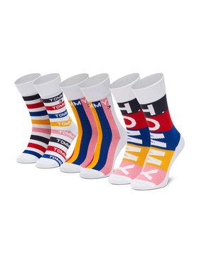 Tommy Hilfiger Tommy Hilfiger Vaikiškų ilgų kojinių komplektas (3 poros) 100002315 Balta
