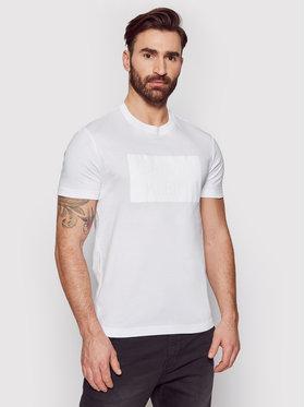 Calvin Klein Calvin Klein T-Shirt Flock Box Logo K10K106496 Biały Regular Fit