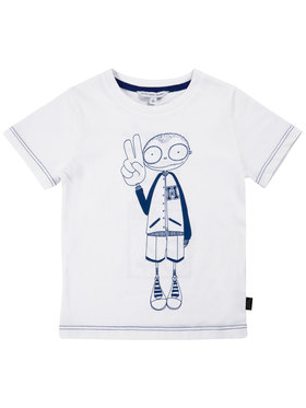 Little Marc Jacobs Little Marc Jacobs Marškinėliai W25417 Balta Regular Fit