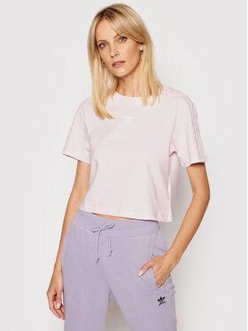 adidas adidas T-shirt Tennis Luxure Cropped H56453 Ružičasta Cropped Fit