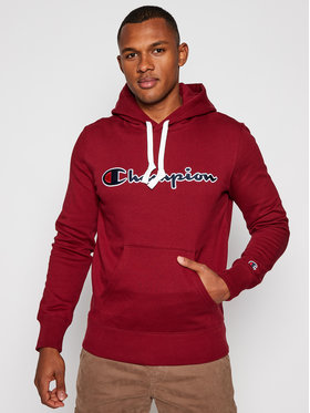 Champion Champion Bluza Hooded 214718 Bordowy Comfort Fit