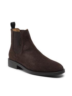 Gant Gant Kotníková obuv s elastickým prvkem Brockwill 23653176 Hnědá