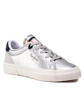 Pepe Jeans Pepe Jeans Sneakers Kenton Classic Girl PGS30474 Argintiu