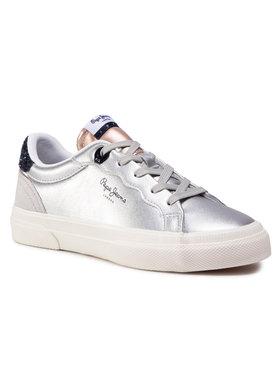Pepe Jeans Pepe Jeans Sneakersy Kenton Classic Girl PGS30474 Stříbrná