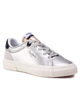 Pepe Jeans Pepe Jeans Sneakersy Kenton Classic Girl PGS30474 Strieborná