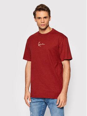 Karl Kani Karl Kani T-Shirt Small Signature 6030950 Μπορντό Regular Fit