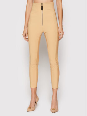 Elisabetta Franchi Elisabetta Franchi Spodnie materiałowe PA-010-16E2-V350 Brązowy Slim Fit