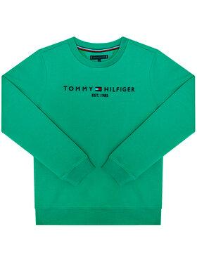 TOMMY HILFIGER TOMMY HILFIGER Džemperis Essential Cn KB0KB05797 Žalia Regular Fit