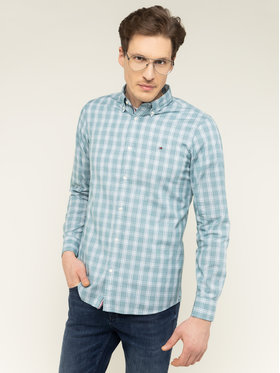 TOMMY HILFIGER TOMMY HILFIGER Риза Fresh Check MW0MW12168 Зелен Slim Fit