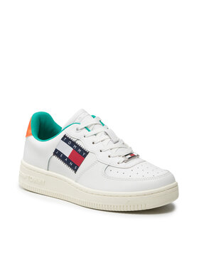 Tommy Jeans Tommy Jeans Sneakers Low Cut Flag Basket Sneaker EN0EN01505 Alb