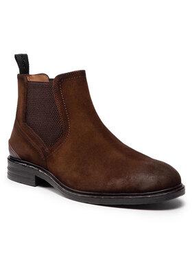 Pepe Jeans Pepe Jeans Členková obuv s elastickým prvkom Oregon Chelsea PMS50212 Hnedá