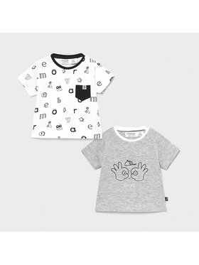 Mayoral Mayoral 2er-Set T-Shirts MAYORAL-1075 Bunt Regular Fit