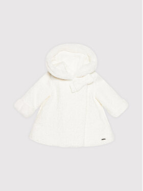 Mayoral Mayoral Cappotto in shearling 2435 Bianco Regular Fit