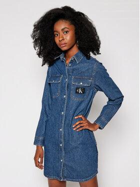 Calvin Klein Jeans Calvin Klein Jeans Дънкова рокля J20J214587 Син Relaxed Fit