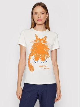 Weekend Max Mara Weekend Max Mara T-shirt Rana 59760419 Bijela Regular Fit
