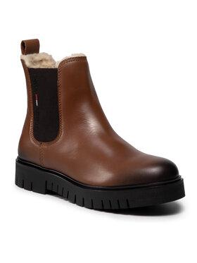 Tommy Jeans Tommy Jeans Sztyblety Warmlined Chelsea Boot EN0EN01572 Brązowy
