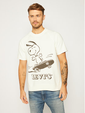 Levi's® Levi's® Pulóver PEANUTS® Crew Sweatshirt 85882-0002 Fehér Regular Fit
