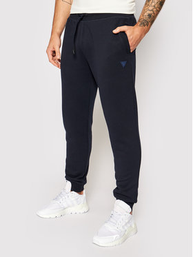 Guess Guess Teplákové nohavice U1YA04 K9V31 Tmavomodrá Regular Fit