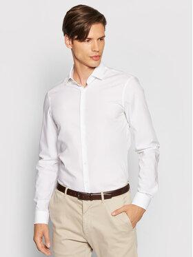 Calvin Klein Calvin Klein Camicia 2ply Poplin Stretch Slim Shirt K10K103025 Bianco Slim Fit