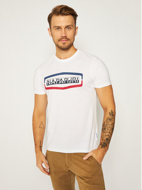 Napapijri Napapijri T-Shirt Sogy Ss 1 NP0A4FDI Biały Regular Fit