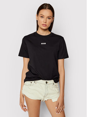 MSGM MSGM T-shirt 2000MDM500 200002 Nero Regular Fit