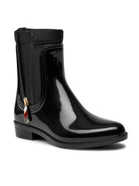 Tommy Hilfiger Tommy Hilfiger Guminiai batai Corporate Zipper Rainboot FW0FW06000 Juoda