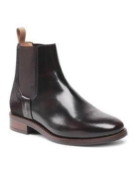 Gant Gant Členková obuv s elastickým prvkom Fayy 23551113 Hnedá