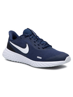 Nike Nike Boty Revolution 5 (GS) BQ5671 402 Tmavomodrá