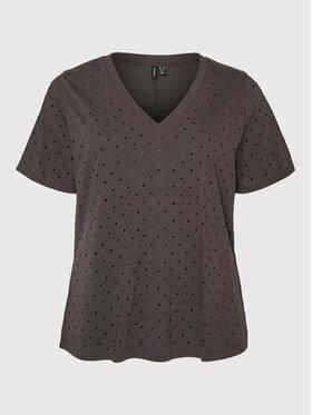 Vero Moda Curve Vero Moda Curve T-Shirt Lilli 10256202 Szary Relaxed Fit