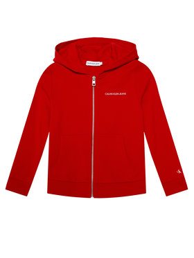 Calvin Klein Jeans Calvin Klein Jeans Μπλούζα Est.78 Back Print Zip Through IB0IB00626 Κόκκινο Regular Fit