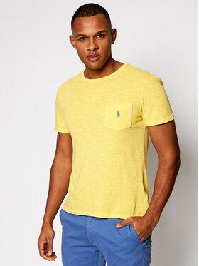 Polo Ralph Lauren Polo Ralph Lauren T-shirt Slub 710795137015 Jaune Slim Fit
