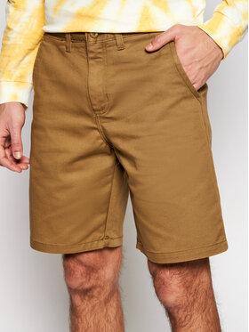 Vans Vans Pantalon scurți din material Authentic Stretch VN0A5FEC Maro Regular Fit