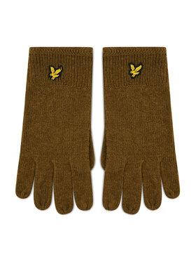 Lyle & Scott Lyle & Scott Rękawiczki Męskie Racked Rib Gloves GL304CL Zielony