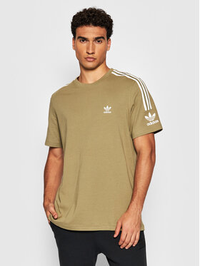 adidas adidas T-Shirt Tech H40349 Zielony Relaxed Fit