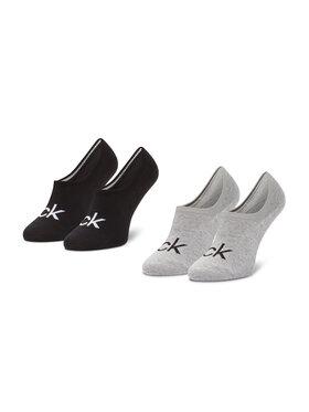 Calvin Klein Calvin Klein Σετ κάλτσες σοσόνια ανδρικές 2 τεμαχίων 100001867 Γκρι