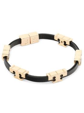 Tory Burch Tory Burch Bransoletka Serif-T Stackable Bracelet 80706 Czarny