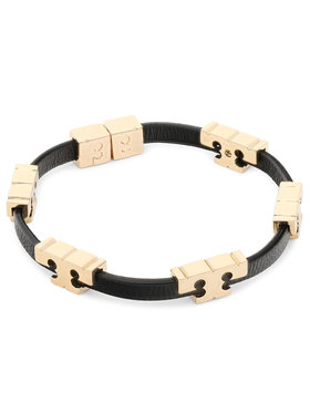 Tory Burch Tory Burch Náramok Serif-T Stackable Bracelet 80706 Čierna