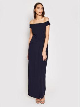 Lauren Ralph Lauren Lauren Ralph Lauren Sukienka wieczorowa Long Gown 253770013002 Granatowy Regular Fit