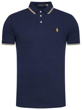 Polo Ralph Lauren Polo Ralph Lauren Polo marškinėliai Ssl-Knt 710812957001 Tamsiai mėlyna Slim Fit