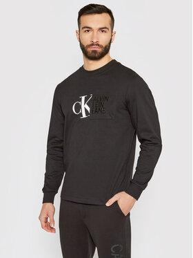 Calvin Klein Jeans Calvin Klein Jeans Marškinėliai ilgomis rankovėmis J30J317454 Juoda Regular Fit