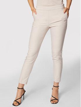 Morgan Morgan Pantaloni din material 211-PROSY.F Bej Slim Fit